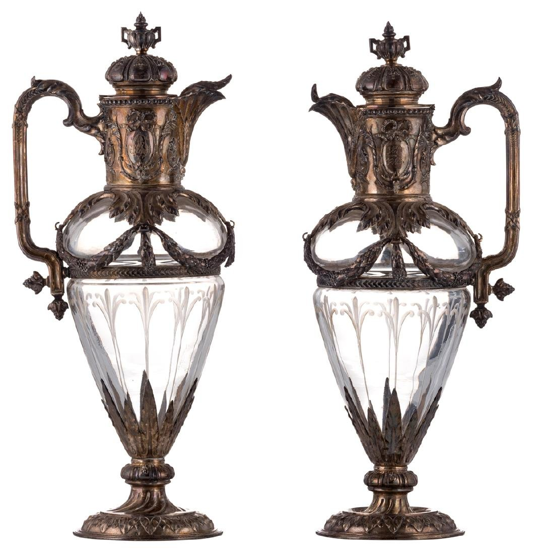 A pair of late 19thC French Renaissance Revival cut