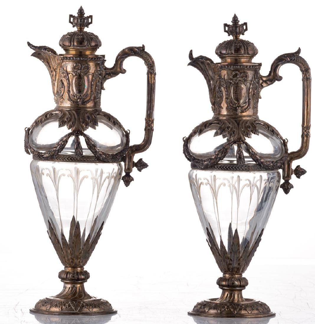 A pair of late 19thC French Renaissance Revival cut - 3