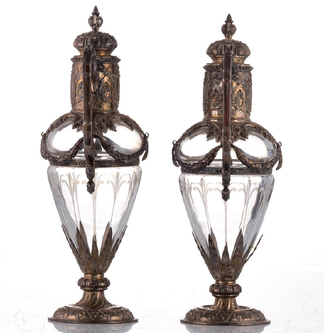 A pair of late 19thC French Renaissance Revival cut - 4