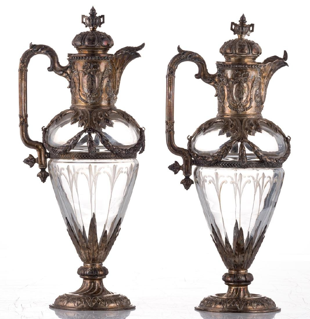 A pair of late 19thC French Renaissance Revival cut - 5
