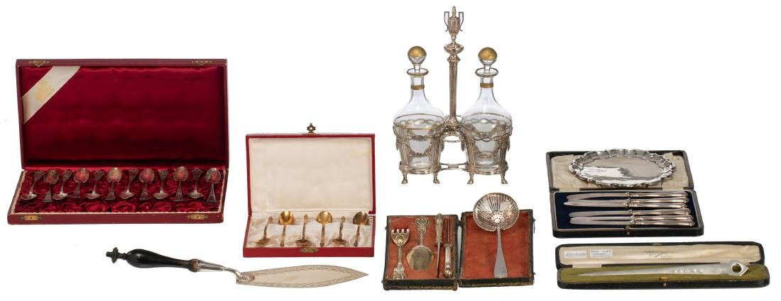 A French neoclassical silver cruet, hallmarks between