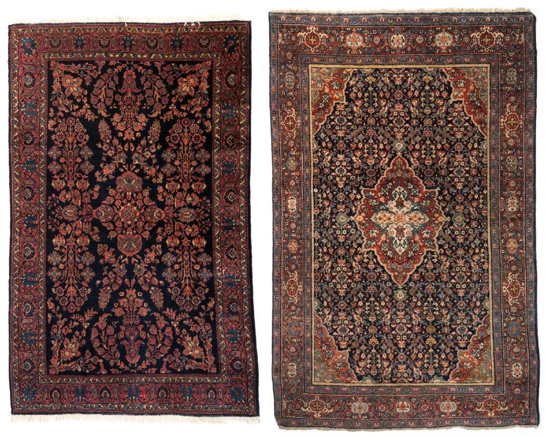 An Oriental woollen carpet, Sarough, 130 x 194 cm;