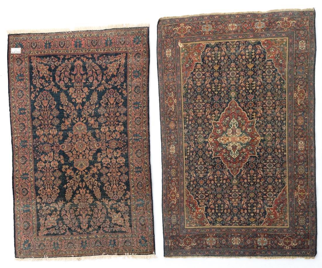 An Oriental woollen carpet, Sarough, 130 x 194 cm; - 2