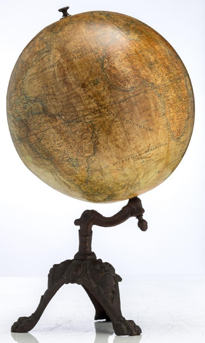 A terrestrial globe by J. Lebegue & Cie - Paris, on a - 3