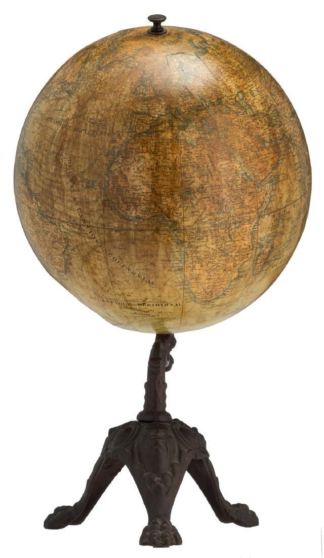 A terrestrial globe by J. Lebegue & Cie - Paris, on a - 4