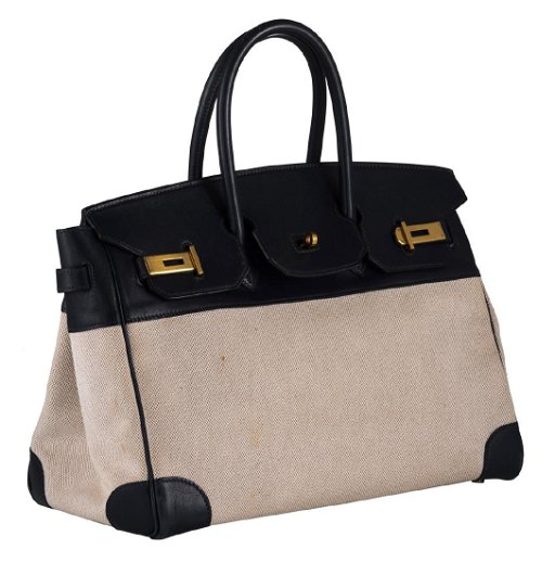 c1eaad43c A Hermes Birkin bag in ebene leather and natural toile. placeholder. See  Sold Price