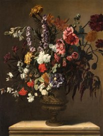 De Largilliere (attrib. to), a still life with flowers,