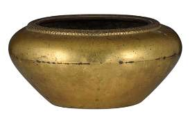 A Chinese gilt bronze incense burner, with a Xuande