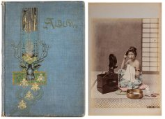 An album with hand coloured albumen prints attr. to