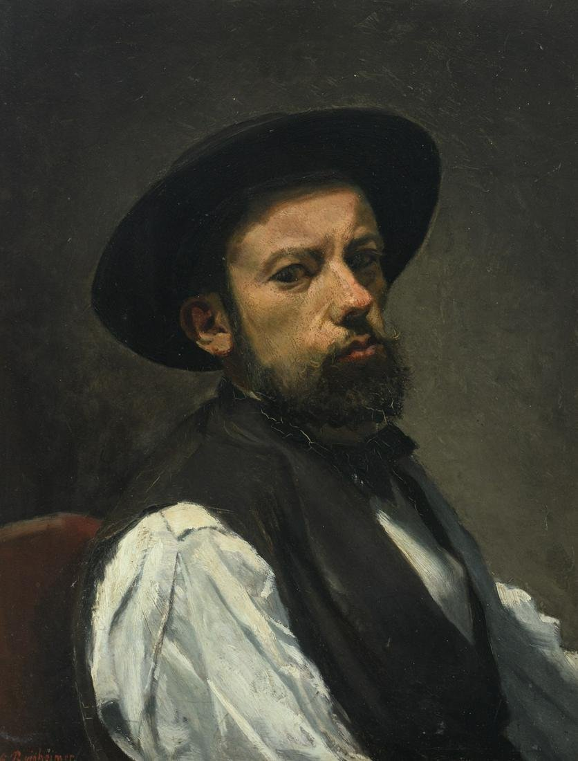 Reinheimer G., self portrait of the artist, oil on