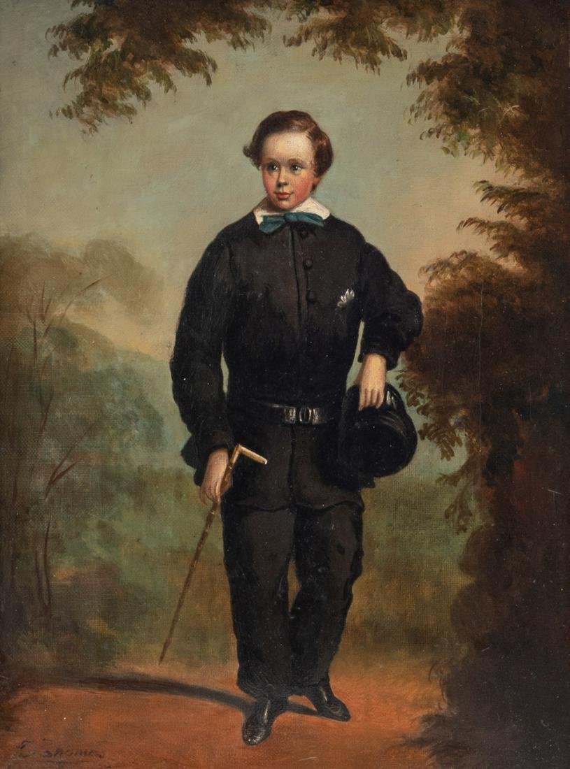 Thomas J., the portrait of an adolescent, 19thC, oil on