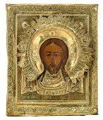 A 19thC Eastern European icon depicting Christ
