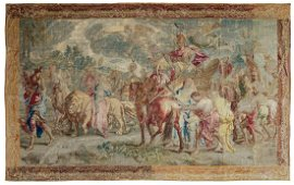 An important Brussels (Flemish) wall tapestry,