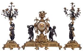 An imposing gilt and patinated bronze Neoclassical