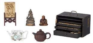 A Chinese Republic period Qianjiang cai teapot,