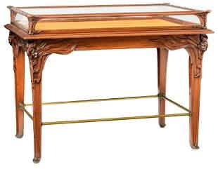 A fine Art Nouveau table vitrine or bijouterie cabinet,
