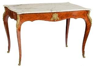 A fine mahogany veneered Louis XV style centre table,