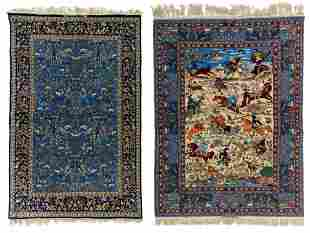 An Oriental Isphahan carpet, decorated with animals and