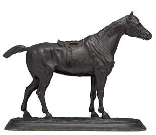 Delabierre E., the horse, dark patinated bronze, H 59 -