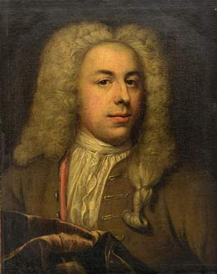 The portrait of a nobleman wearing a wig, early 18thC,