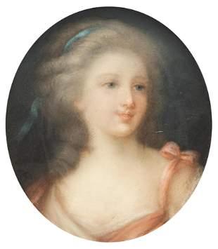 Gravier, the medallion portrait of Mademoiselle de