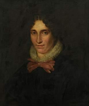 The portrait of a charming lady, 19thC, 53 x 64 cm