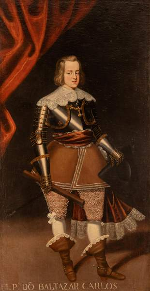 Spanish School, portrait of Balthasar Charles