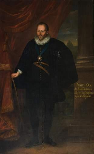 The full-length portrait of 'Henry Duc de Montmorency,