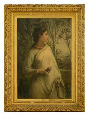 Jan Frans Portaels (1818-1895), 'Crépuscule', in an