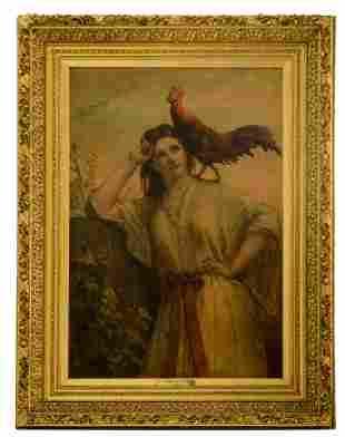 Jan Frans Portaels (1818-1895), 'Aurore', in an