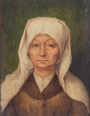 The portrait of an old woman, in the manner of Albrecht
