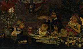 A copy after 'The Master Painter' (1877) by Jan