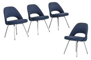 A set of four Knoll chairs, by Eero Saarinen, H 47,5 -