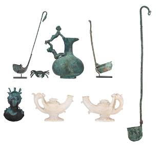 A collection of ancient Roman items and Grand Tour