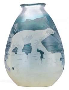 Emile Gallé (1846-1904), 'Polar bear' vase, H 35,5 cm