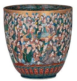 "A Japanese ko-Kutani style ""Mille Visages"" water bowl,"