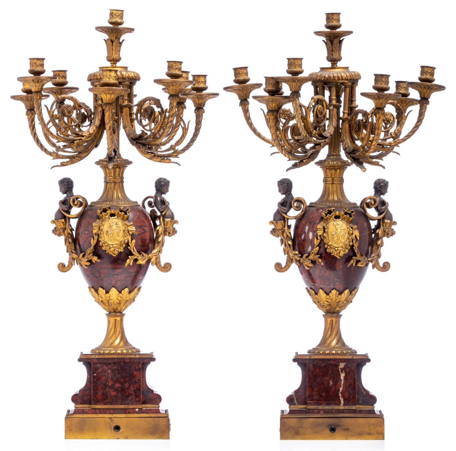 An imposing pair of Neoclassical Napoleon III period