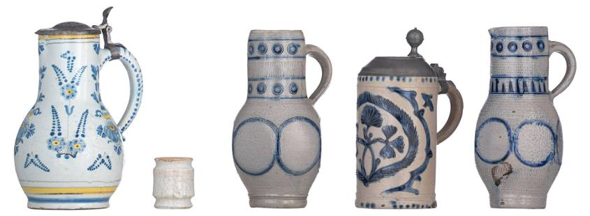A collection of 18th and 19thC ceramic items,