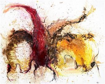 Koen Vanmechelen (1965), 'De Kwal', 160 x 200 cm…