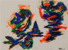Karel Appel (1921-2006), 'Two Figures', 1961, 55 x 76