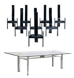 A 'Doge' dining table by Scarpa, H 72 - W 306 - D 102
