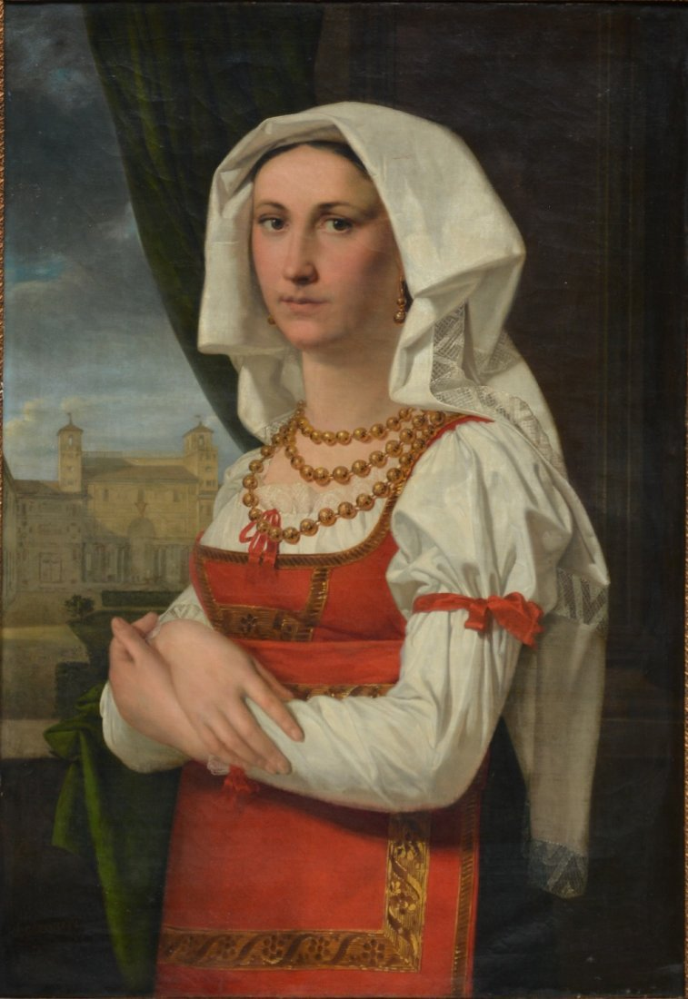 Odevaere J., portrait of a Lady in a traditional