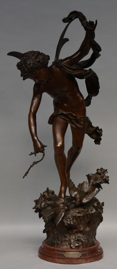 Madrassi L., 'lutin des bois', bronze, on a marble
