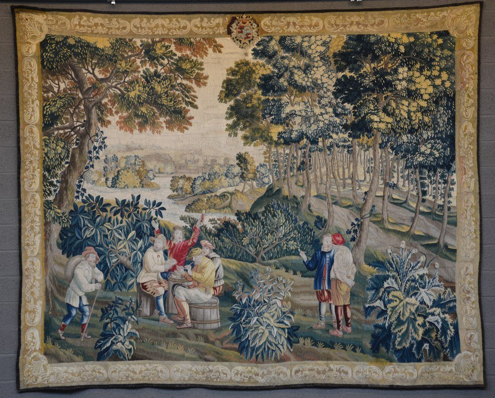 An exceptional, possibly Audenarde, Flemish tapestry