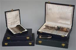 A twelve-piece French Restauration style silver cutlery