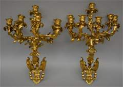 An exceptional pair of 19thC Rococo style wall