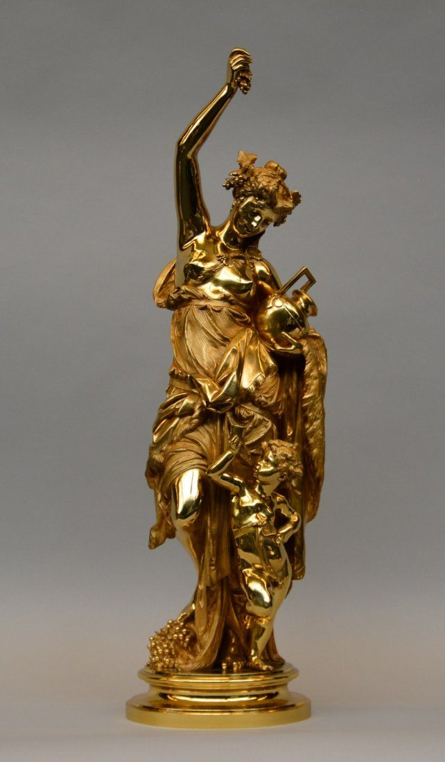 An exceptional 19thC gilt bronze figure, by