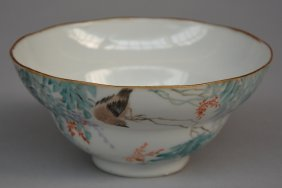 An Exceptional Chinese 'eggshell' Porcelain Bowl With