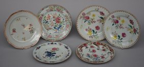 A Set Of Chinese Famille Rose Plates, 18thc, Diameter