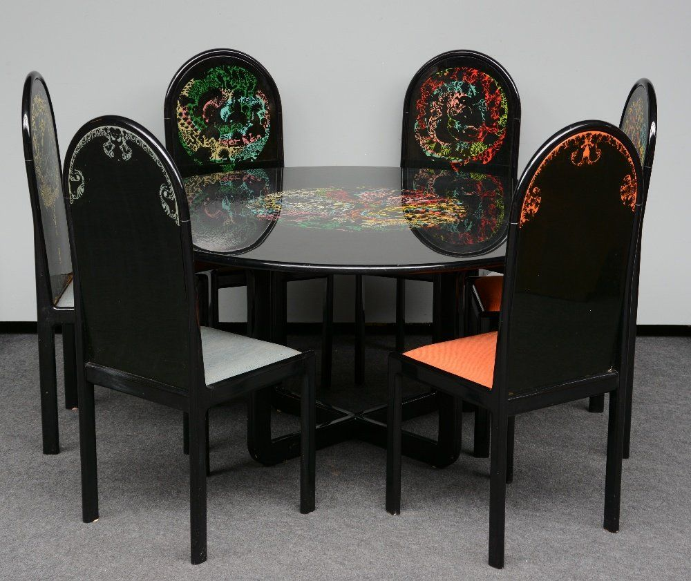 """A table and six chairs, """"The Four Cardinal Points"""","""
